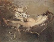 A Reclining Nude on a Day-bed Giovanni Boldini