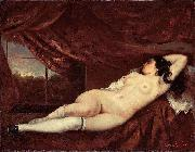 Femme nue couchee Gustave Courbet