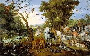 The Entry of the Animals Into Noah Ark Jan Brueghel The Elder