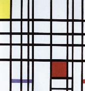 compostition with yellow,blue and red,1937 to 42 Piet Mondrian
