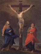 The Cross of Christ, the Virgin and St. John s Evangelical Pompeo Batoni