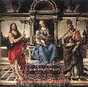 Madonna with Sts John the Baptist and Donatus Cathedral of Pistoia Andrea del Verrocchio