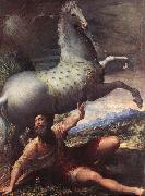 The Conversion of St Paul - Oil on canvas PARMIGIANINO