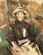 children wearing straw hat Paul Cezanne