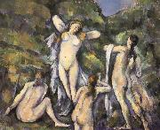 Bath four women who Paul Cezanne