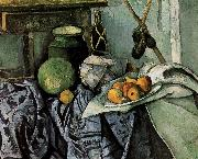 bottles and fruit still life Paul Cezanne
