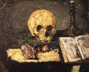 bones and candlestick Paul Cezanne