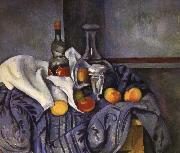 and fruit still life of wine Paul Cezanne