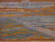 Piet Mondrian, View from the Dunes with Beach and Piers Piet Mondrian