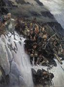 March of Suvorov through the Alps Vasily Surikov