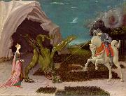 A gothicizing tendency of Uccello art is nowhere more apparent than in Saint George and the Dragon paolo uccello