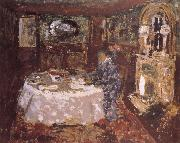 Painter mother sitting at the table money Vuillard