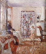 The LuSaiEr sitting by the window Edouard Vuillard