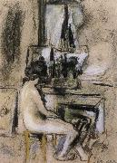 Nude front of the fireplace Vuillard
