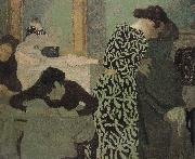 Has a floral pattern for clothing Vuillard