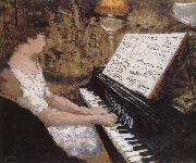 Piano lady Vuillard