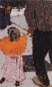 Orange girl clothes Vuillard