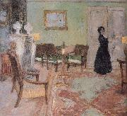 The woman standing in the living room Edouard Vuillard