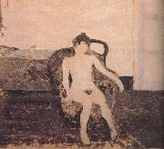In the armchair naked female Vuillard