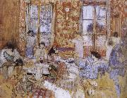 Naked girls sitting on the sofa Vuillard
