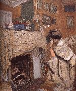 The fireplace black s wife Vuillard