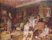 Mrs Olga with her children Vuillard
