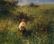 Girl in a Field Ludwig Knaus