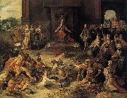 Allegory on the Abdication of Emperor Charles V in Brussels Frans Francken II