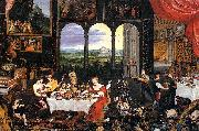 The Senses of Hearing Touch and Taste Jan Brueghel The Elder