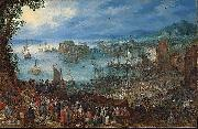 An Brueghel the Elder Great Fish market Jan Brueghel The Elder
