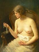 Nude girl by Czech painter Stanislav Feikl, Stanislav Feikl