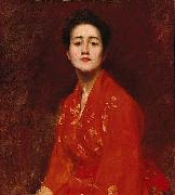 Study of a Girl in Japanese Dress William Merritt Chase