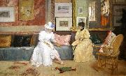 A Friendly Call. William Merritt Chase
