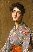 Girl in a Japanese Costume William Merritt Chase