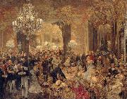 The Dinner at the Ball Adolph von Menzel