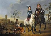Lady and Gentleman on Horseback Aelbert Cuyp