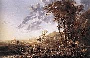 Evening Landscape with Horsemen and Shepherds Aelbert Cuyp