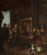 A nobleman visits an artist in his studio Anonymous