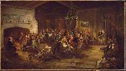 The Christmas Party. Attributed to Wilkie