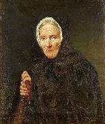 Old Woman with a Rosary Carl d Unker