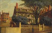 The Hancock House, oil painting by Charles Furneaux Charles Furneaux