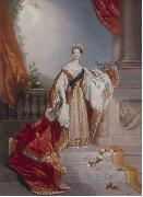 Portrait of Queen Victoria on Alfred Chalon