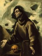 El Greco. Saint Francis Receiving the Stigmata El Greco