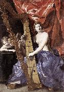Venus Playing the Harp Giovanni Lanfranco