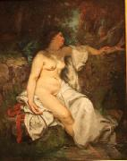 Bather Sleeping by a Brook Gustave Courbet