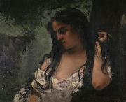 Gypsy in Reflection Gustave Courbet