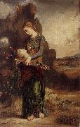 Thracian Girl Carrying the Head of Orpheus on His Lyre Gustave Moreau
