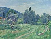 Olive Trees in Afternoon at Cannes Henri Lebasque Prints