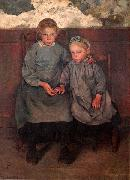 Two Walloon Country Girls Leon Frederic