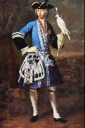 Portrait of Clemens August as Falconer Peter Jakob Horemans